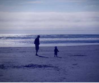 Me and K, pacific ocean